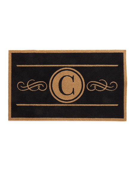 Custom Scroll Monogram Rug, 3' x 5'