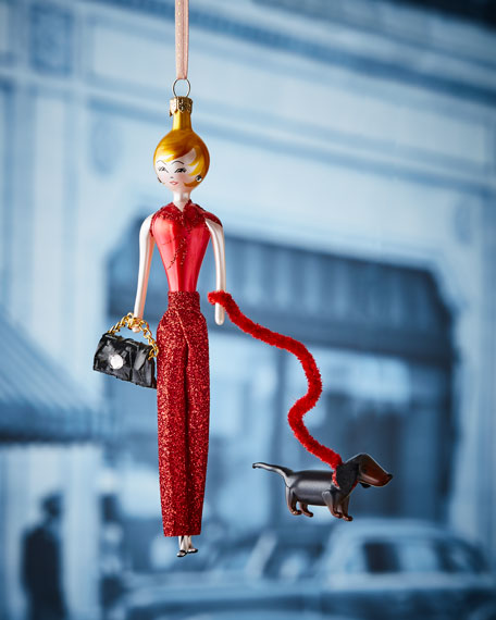 Jill in Red Pants Christmas Ornament