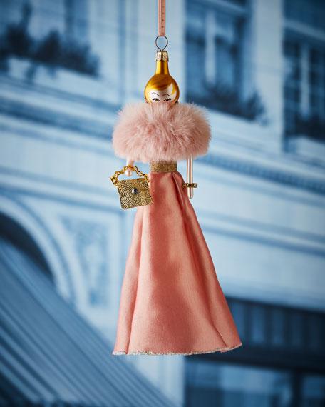 Lauren in Pink Dress Christmas Ornament