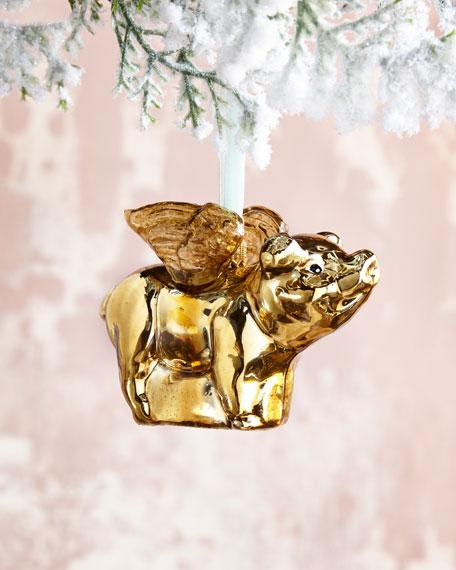 Flying Pig Christmas Ornament