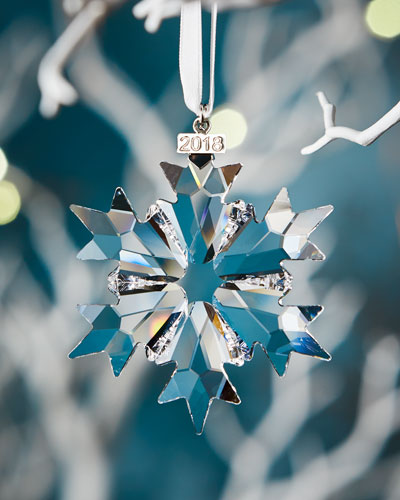 Annual Edition 2018 Crystal Snowflake Christmas Ornament