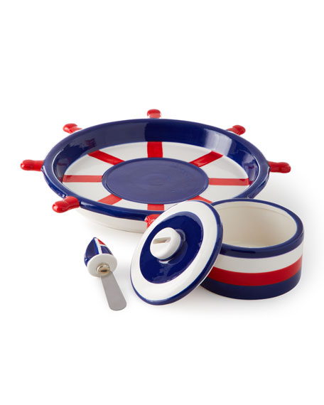 Anchors Away Chip and Dip Platter Set