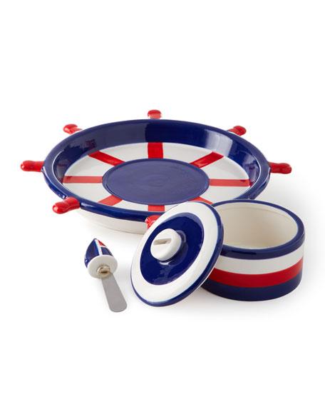 Anchors Away Chip and Dip Platter Set