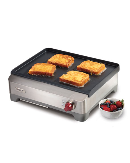 Stainless Steel Electric Griddle with Vented Lid