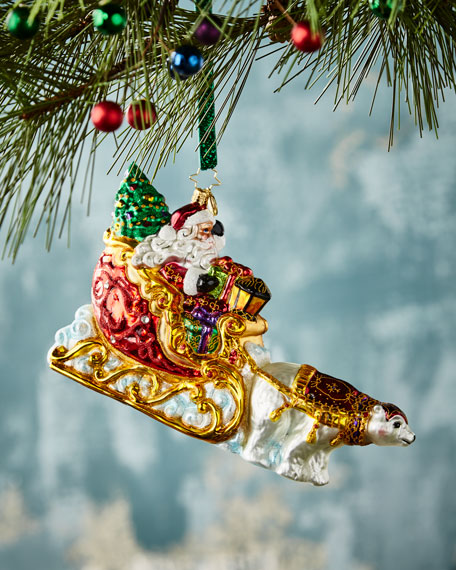 Polar Bear Run Christmas Ornament