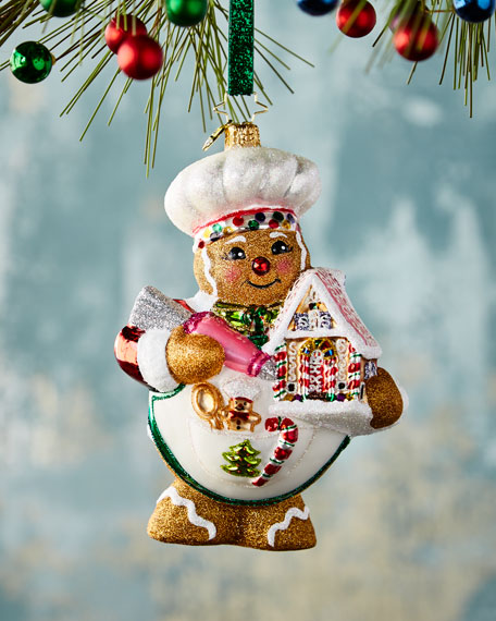 Sweetest Chef Around Gingerbread Christmas Ornament