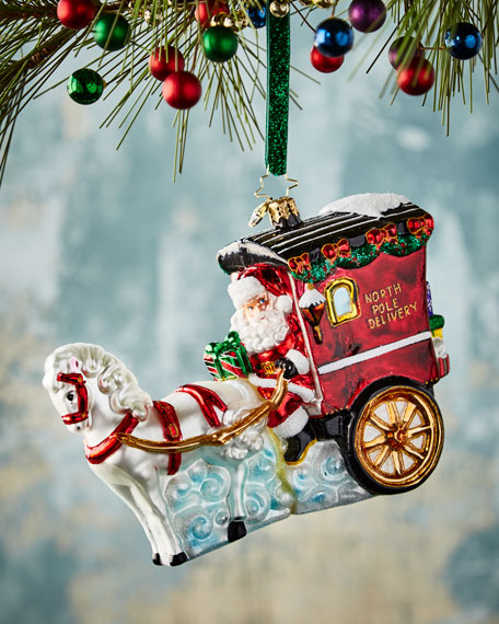 Hold Your Horses Santa Christmas Ornament
