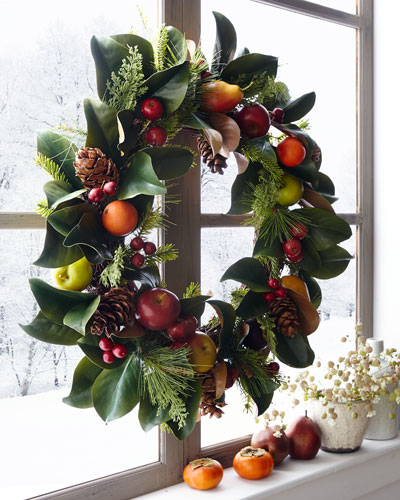Pine Cone/Fruit/Foliage Wreath  30