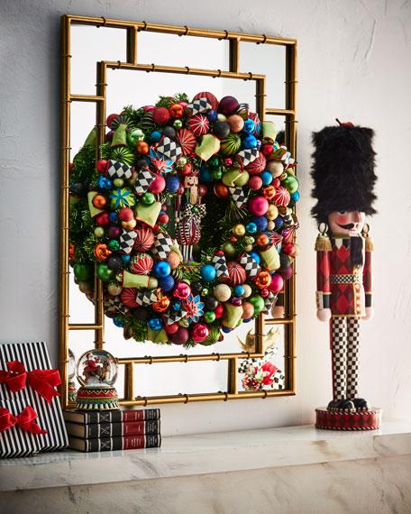 mackenzie childs nutcracker large christmas wreath 30 - Large Christmas Wreaths