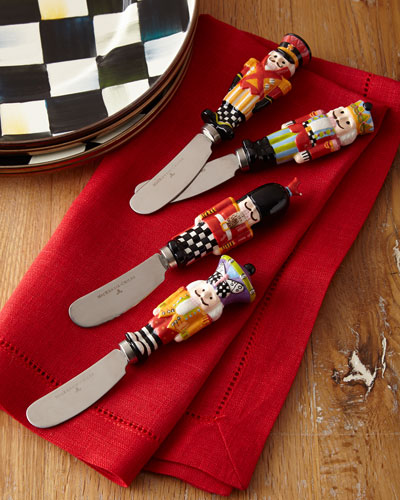 Nutcracker Canape Knives, Set of 4