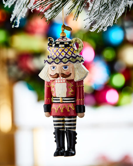 mackenzie childs tea time nutcracker christmas ornament