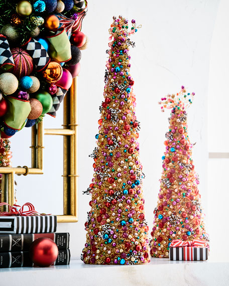 mackenzie childs bijou beaded tabletop christmas tree 22