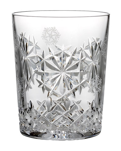 Snowflake Wishes Happiness Double Old-Fashioned  Clear