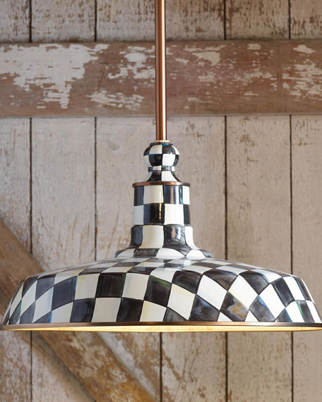 Courtly Check Barn Pendant Lamp, 18""