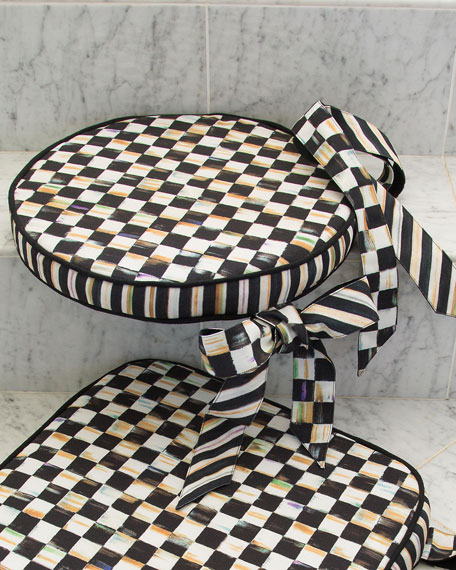 Courtly Check Round Stool Cushion