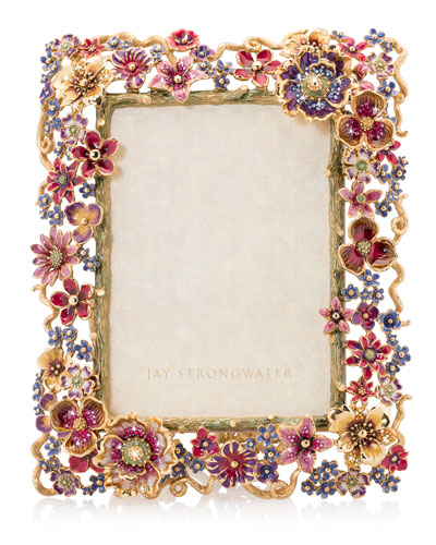 Floral Cluster Picture Frame  5 x 7
