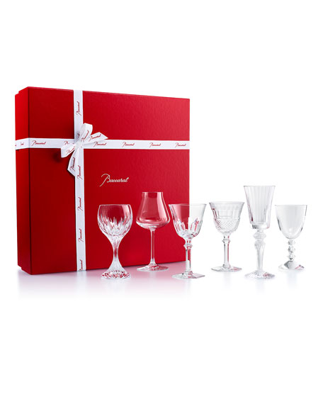 Baccarat Box of Assorted Wine Glasses, Set of