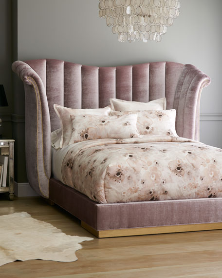 Haute House Moira Channel Tufted Queen Bed