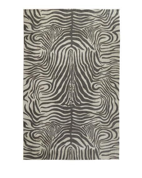 Dariya Power-Loomed Zebra Rug, 7.9' x 10'
