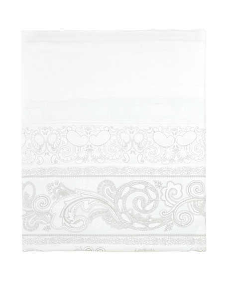 Majeste 300 Thread-Count Paisley King Flat Sheet