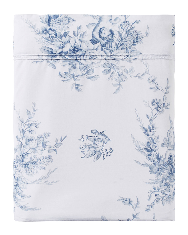 Anne De Solene Evanescence 200 Thread Count Toile King Flat Sheet