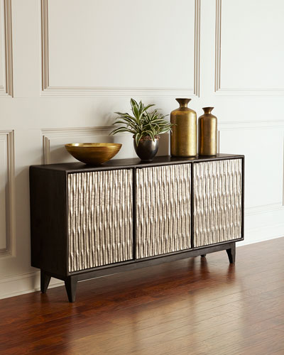 Shimmer Three-Door Entertainment Console