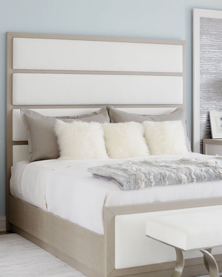 Bernhardt Axiom Tall Upholstered Panel Queen Bed