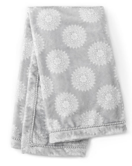 Willow Medallion Blanket, Gray