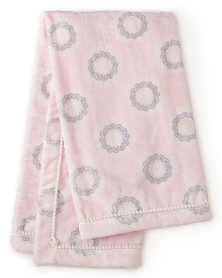 Willow Medallion Blanket, Pink