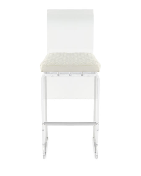 Lex Modern Lucite Bar Stool