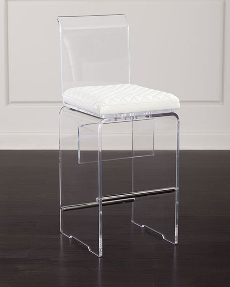 John-Richard Collection Lex Modern Lucite Bar Stool