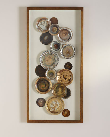 Framed Pottery Under Glass