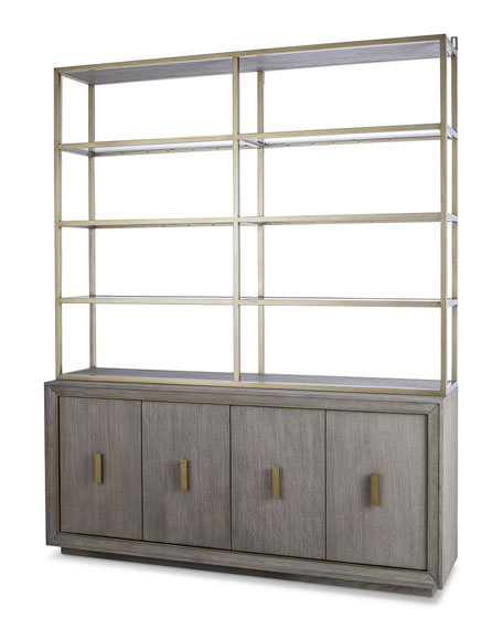 Kendall Metal & Glass Hutch