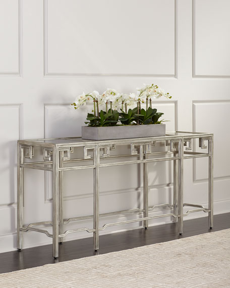 John-Richard Collection Qing Antiqued Mirrored Console Table