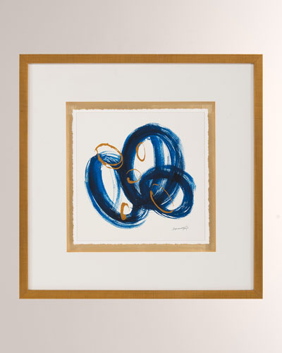 Blue Gold II Wall Art by Dyann Gunter