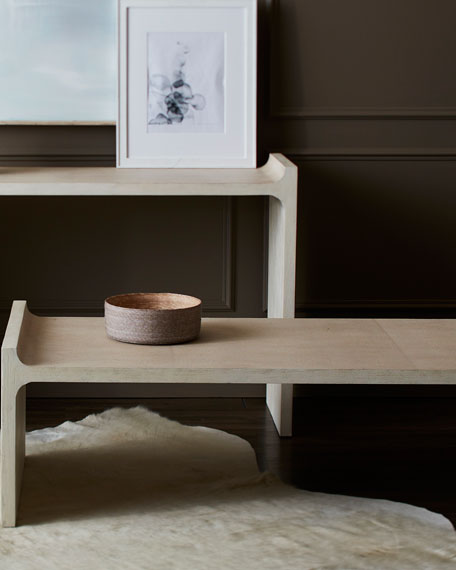 Hollis Faux-Shagreen Coffee Table