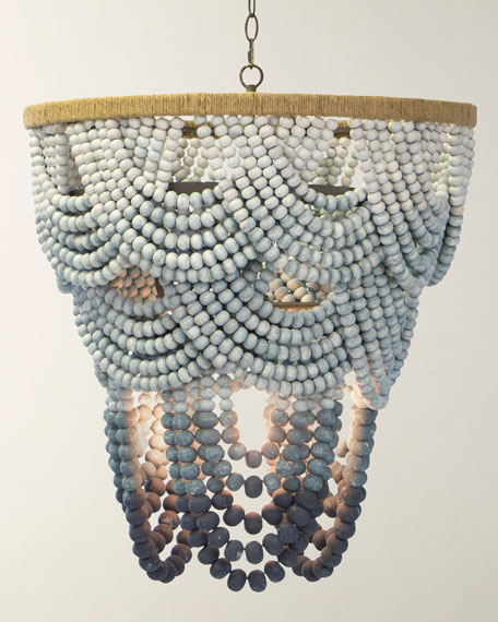 Ombre Wood Bead Chandelier