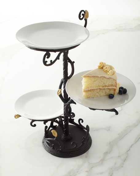 Gold Leaf 3-Tier Stand