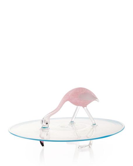 Flamingo Cake Plate