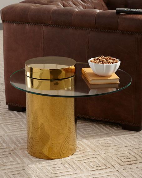 Odette Glass Top Side Table