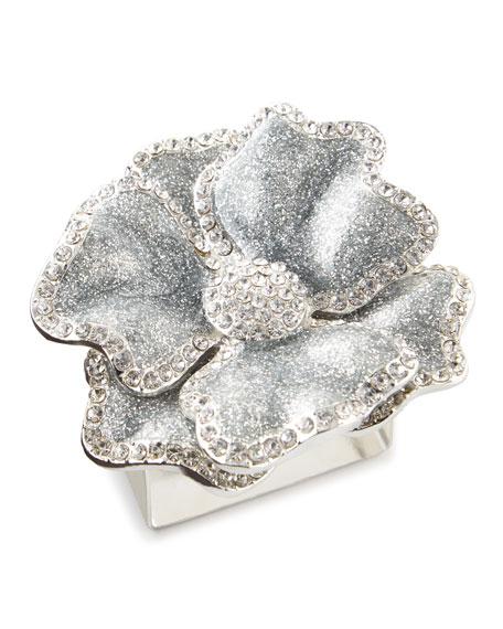 Nomi K Silver Flower Napkin Ring, Set of