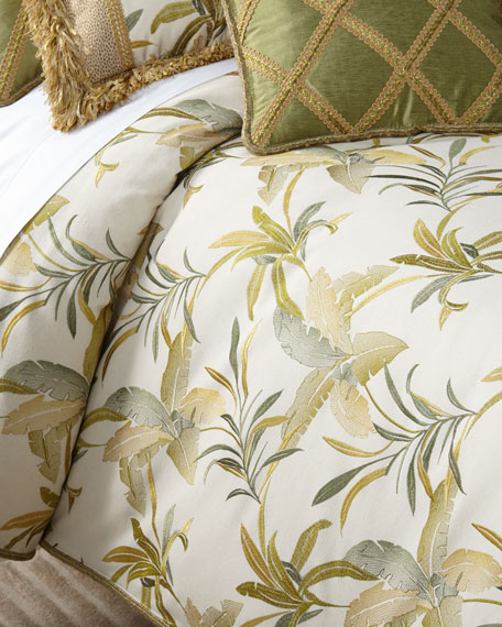 Botanical Embroidered Queen Duvet