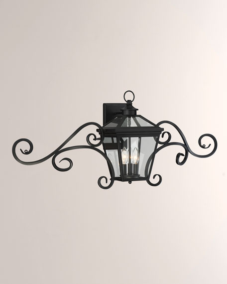 "Ellijay 9"" Steel Wall Lantern with Mustache"