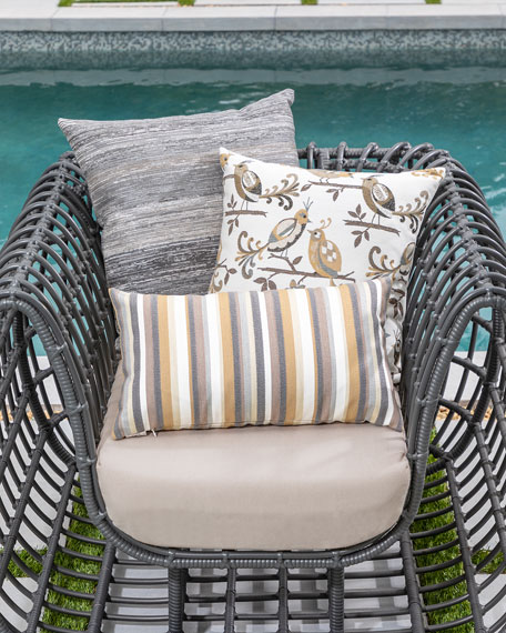 Textured Lumbar Sunbrella Pillow