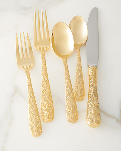 20-Piece Contessina Gold Flatware Set