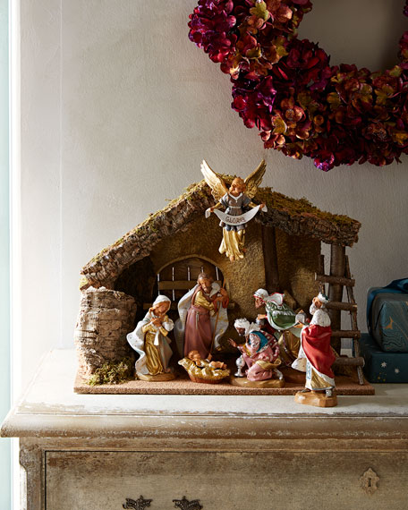 Fontanini 7-Piece Nativity Set with Italian Stable