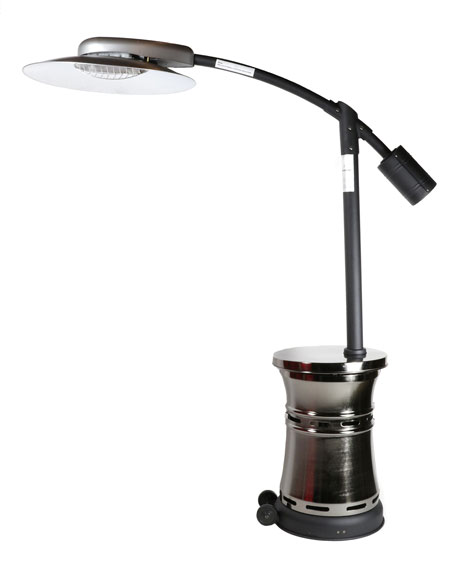 Curve Infrared Patio Heater, Stainless Steel