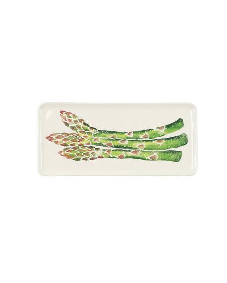 Spring Vegetables Small Rectangular Platter