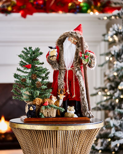 Lynn Haney Woodland Santa Figure with Animals