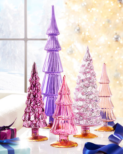 Violet Hue Trees  Set of 5